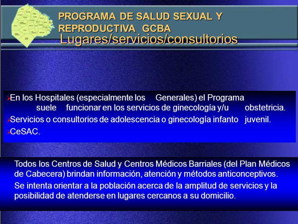Lugares/servicios/consultorios