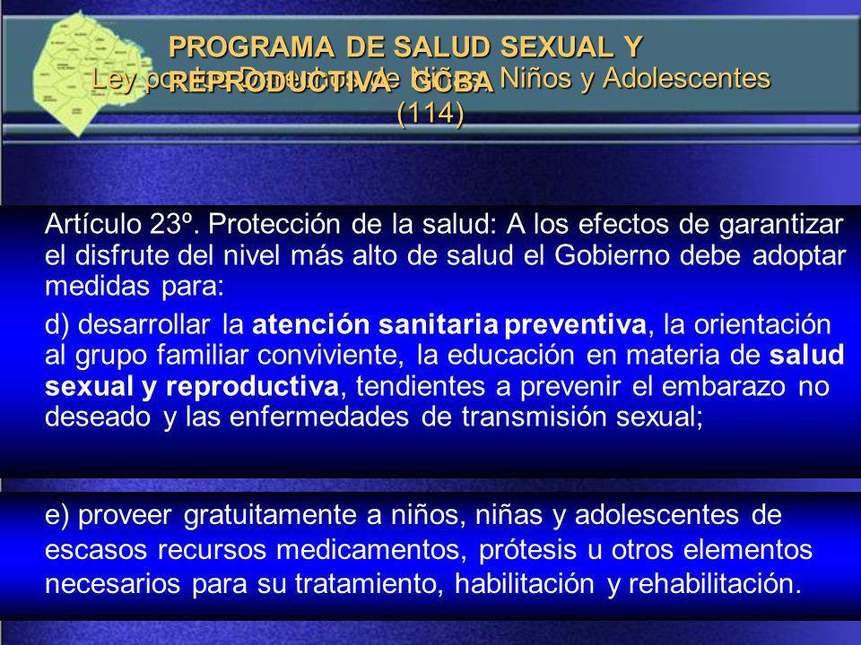 Ley por los Derechos de Niñas, Niños y Adolescentes (114)