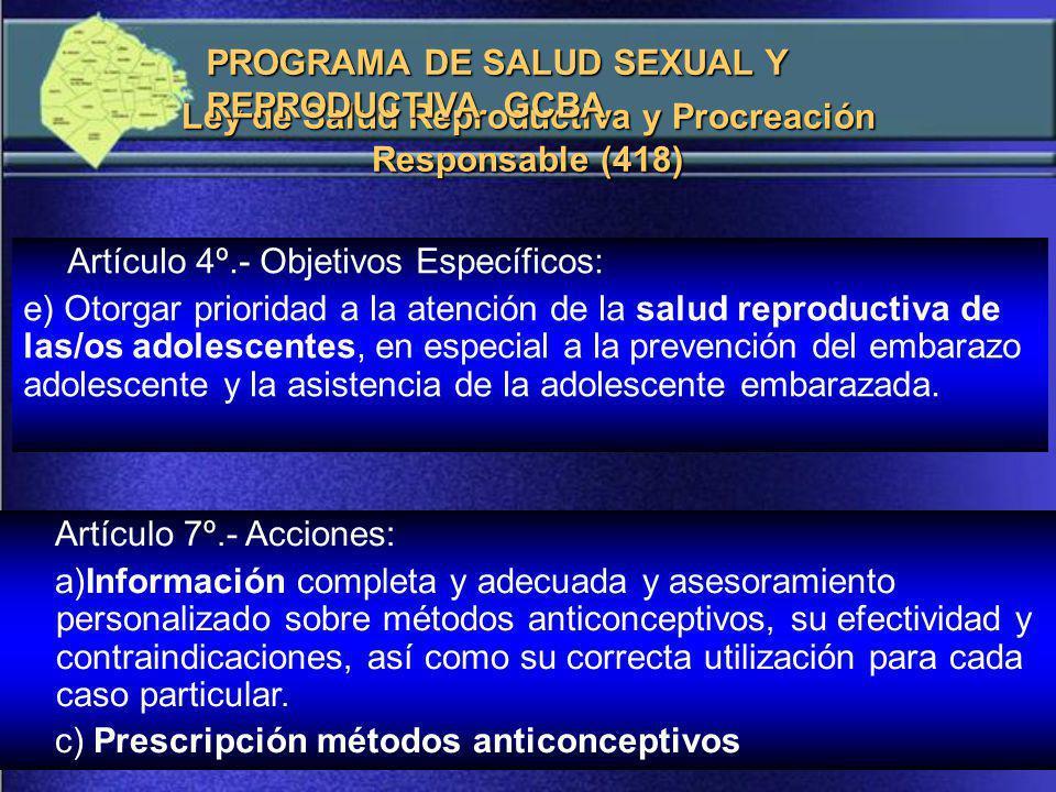 Ley de Salud Reproductiva y Procreación Responsable (418)