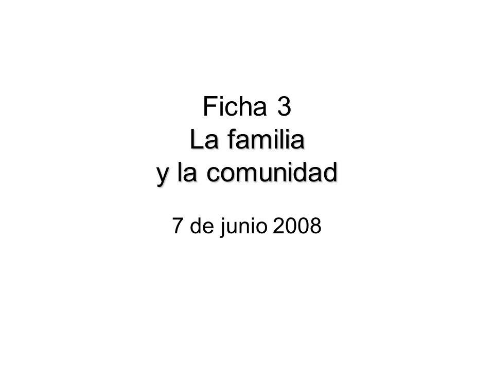 Ficha 3 La familia y la comunidad