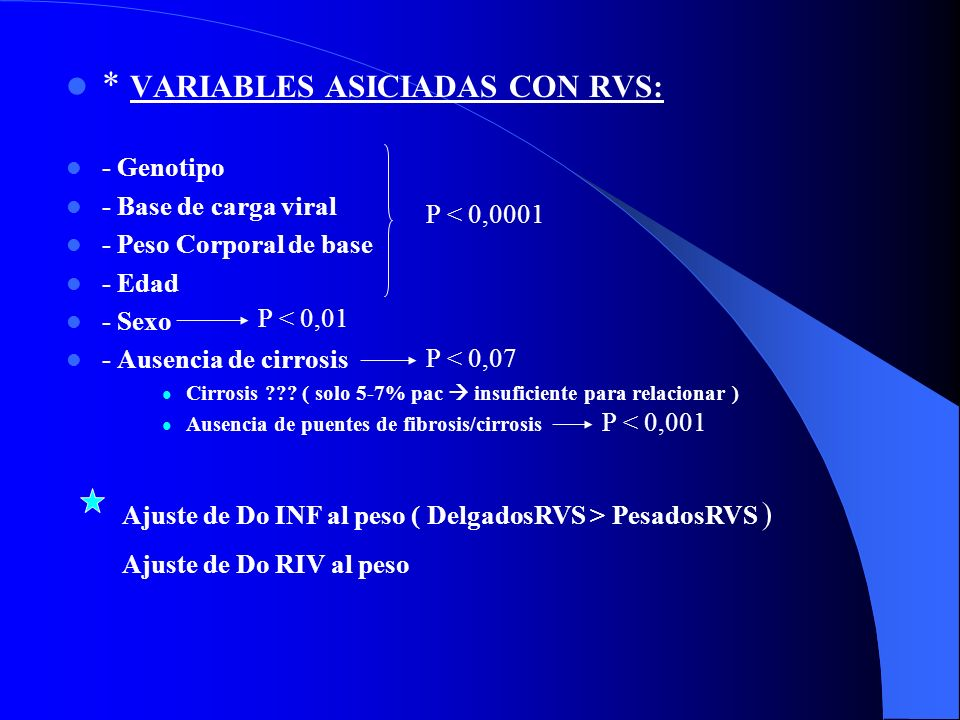 * VARIABLES ASICIADAS CON RVS: