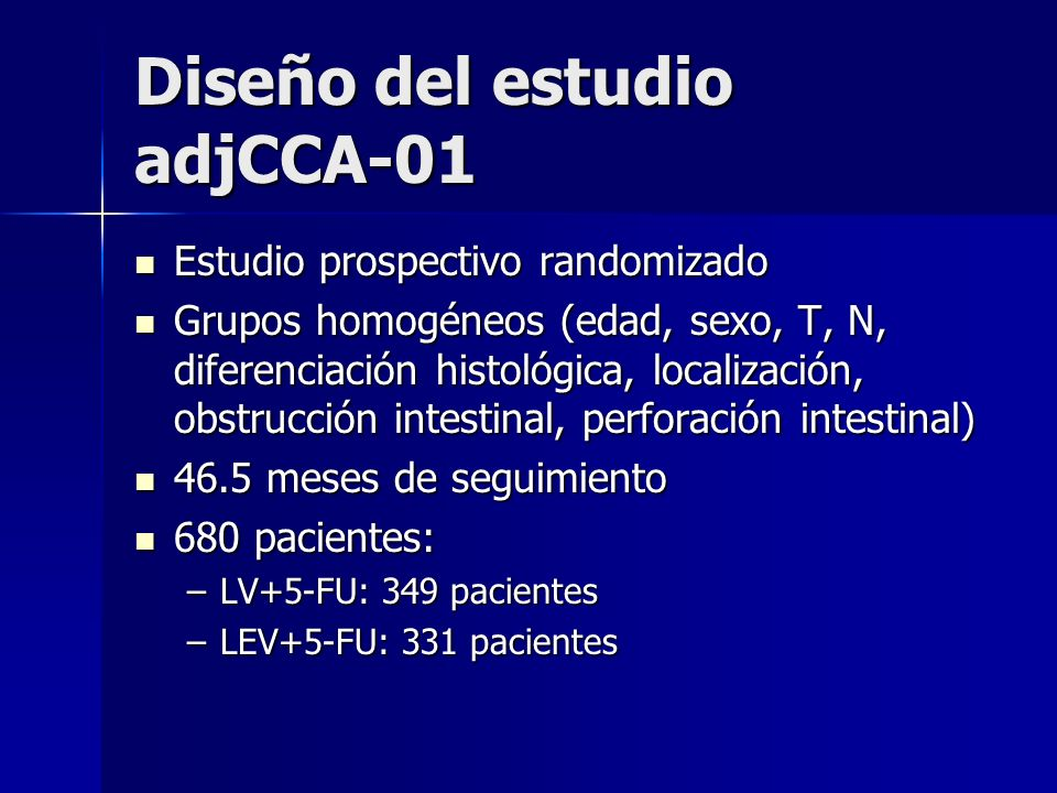 Diseño del estudio adjCCA-01