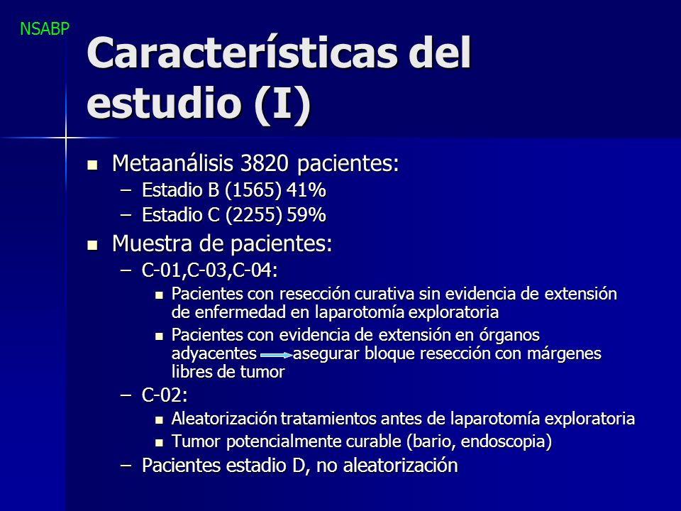 Características del estudio (I)