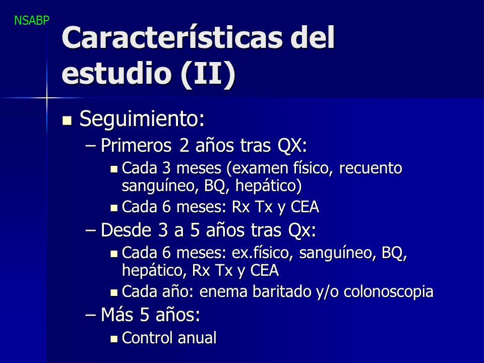 Características del estudio (II)