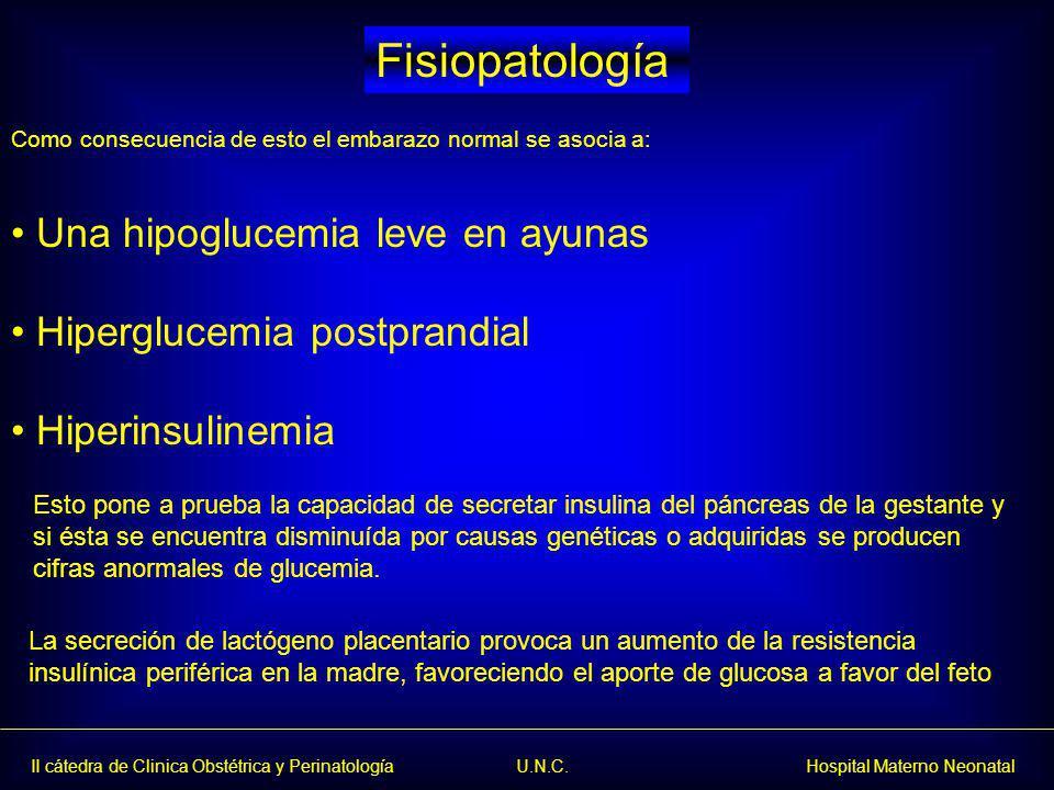 Fisiopatología Una hipoglucemia leve en ayunas