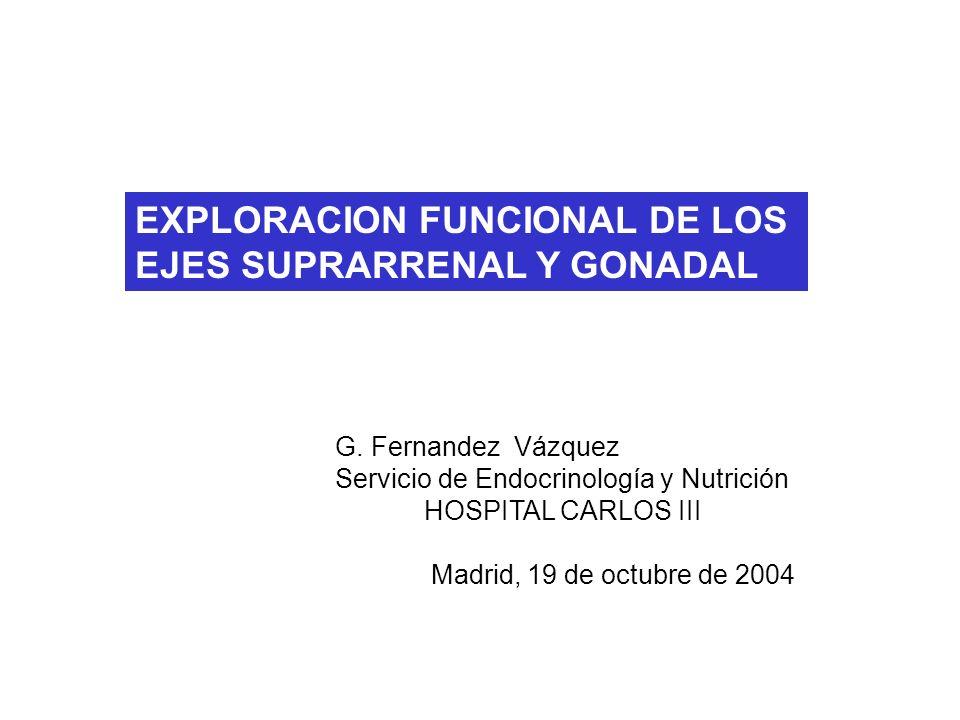 EXPLORACION FUNCIONAL DE LOS EJES SUPRARRENAL Y GONADAL