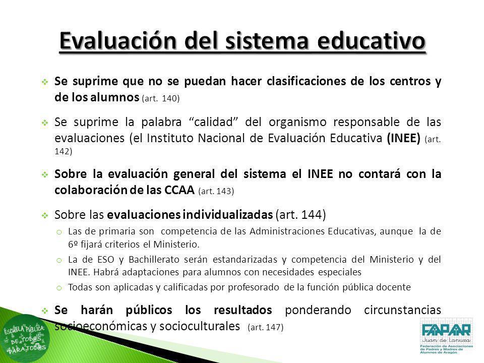 Evaluación del sistema educativo
