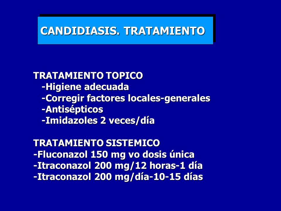 CANDIDIASIS. TRATAMIENTO