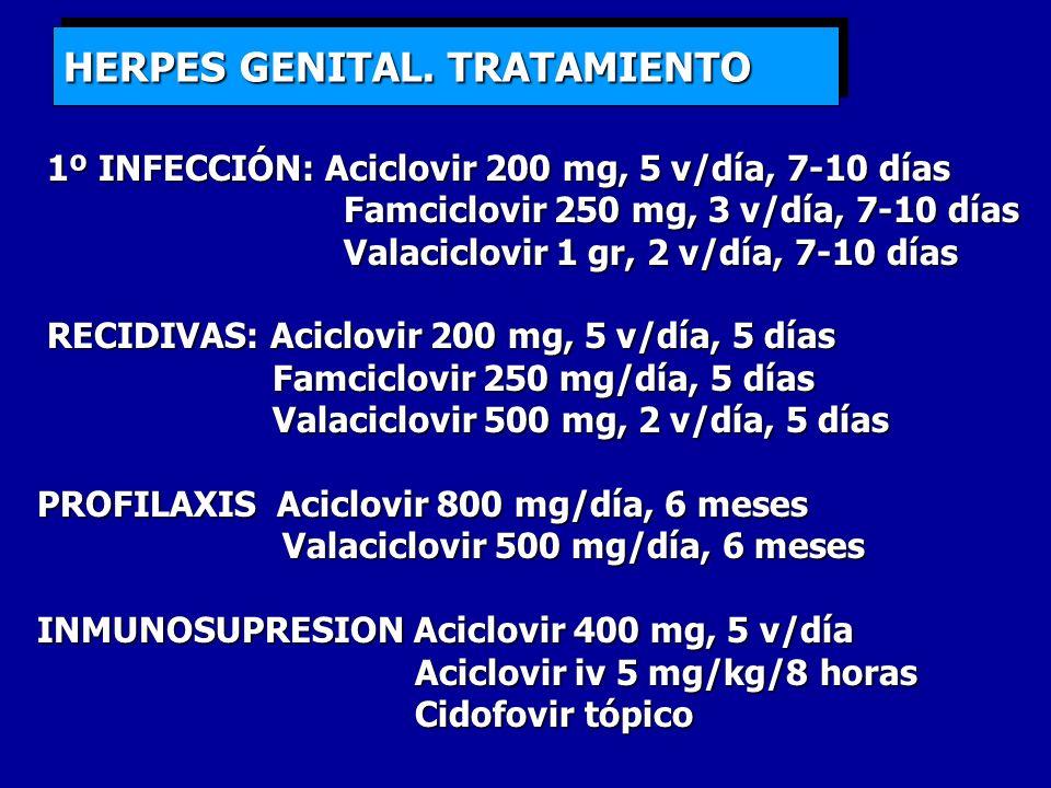HERPES GENITAL. TRATAMIENTO