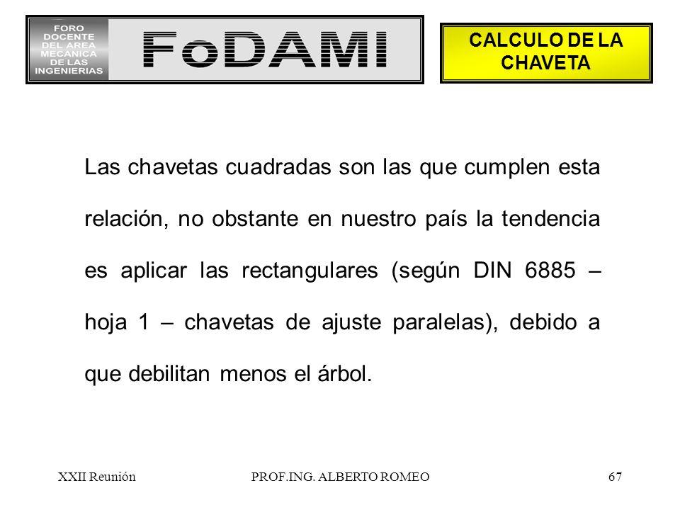 CALCULO DE LA CHAVETA