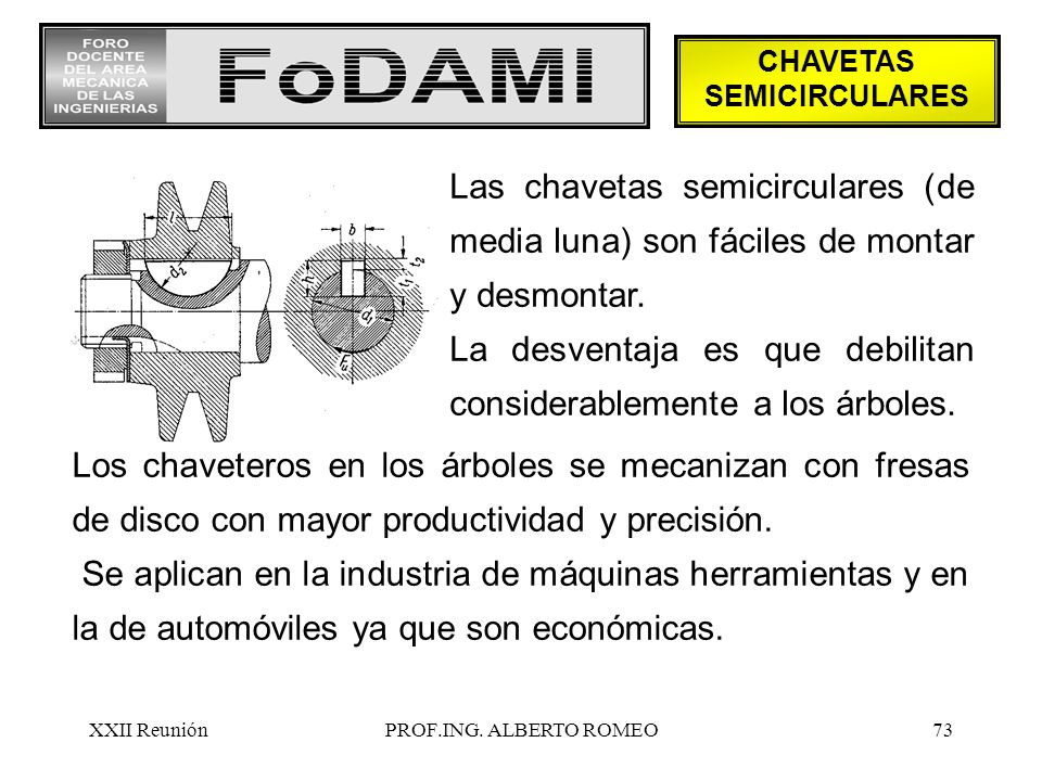 CHAVETAS SEMICIRCULARES