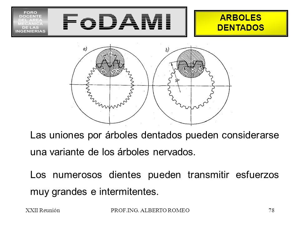 ARBOLES DENTADOS Las uniones por árboles dentados pueden considerarse una variante de los árboles nervados.