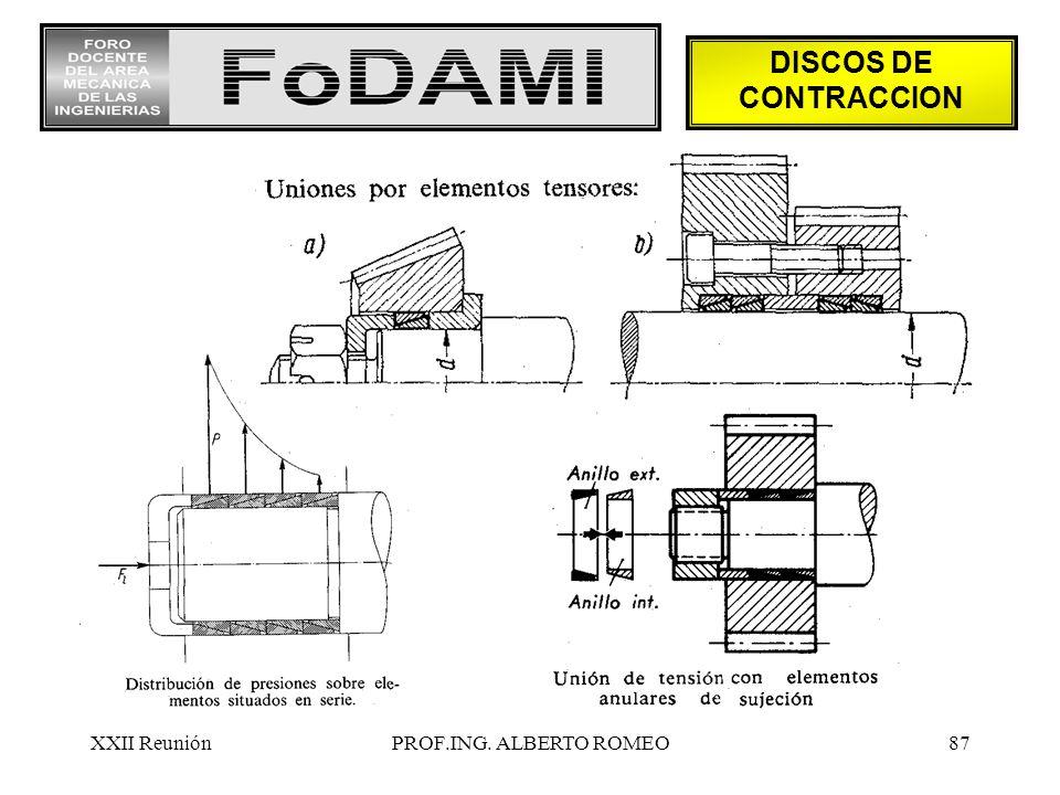 DISCOS DE CONTRACCION XXII Reunión PROF.ING. ALBERTO ROMEO