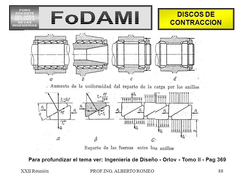 DISCOS DE CONTRACCION Para profundizar el tema ver: Ingeniería de Diseño - Orlov - Tomo II - Pag 369.