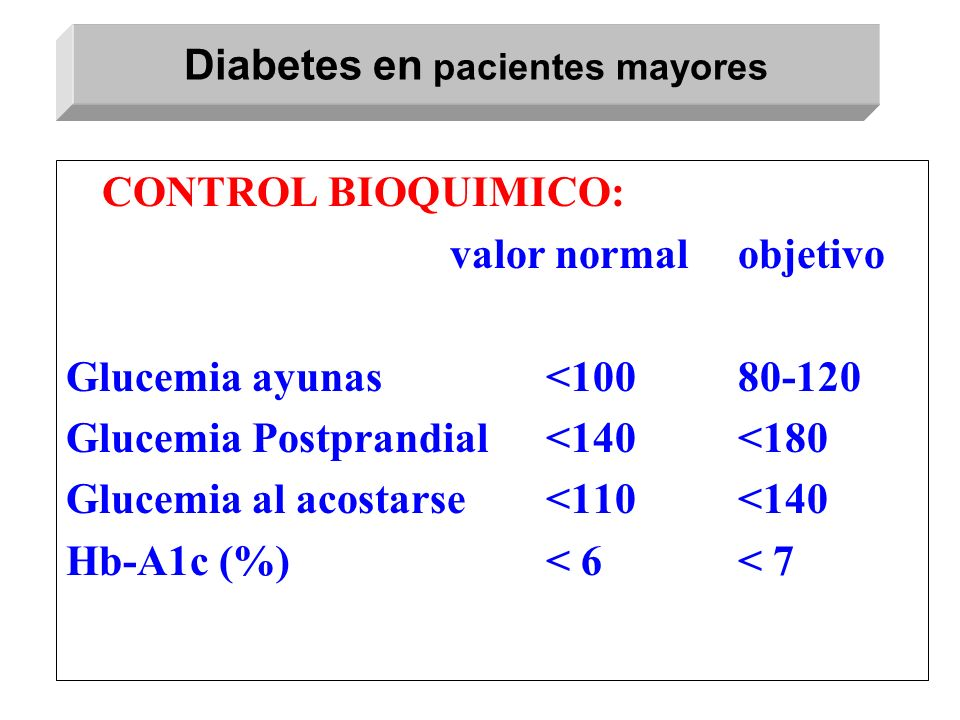 Diabetes en pacientes mayores