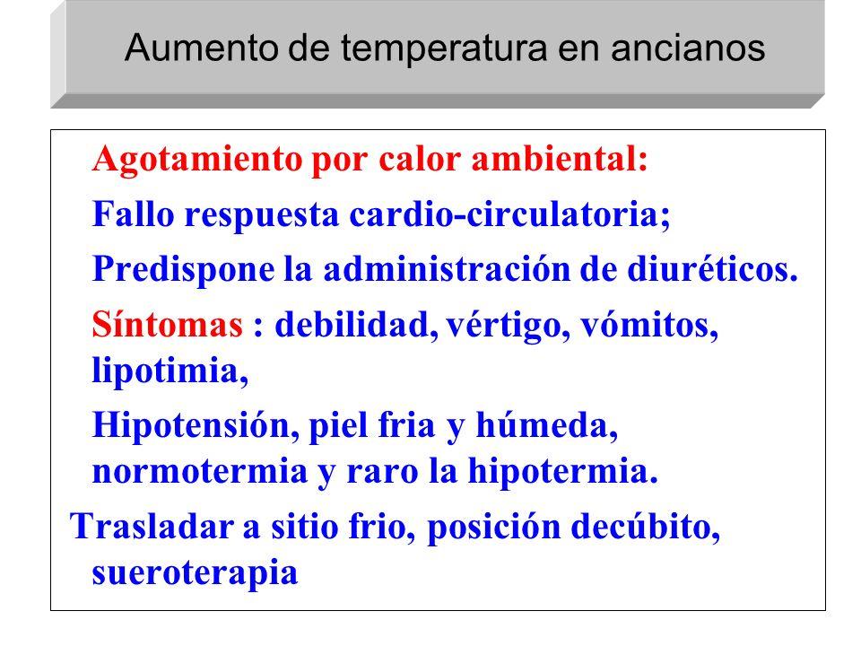 Aumento de temperatura en ancianos