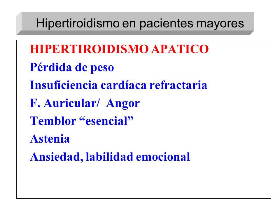 Hipertiroidismo en pacientes mayores