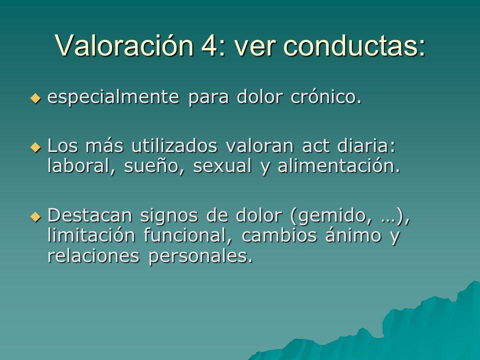 Valoración 4: ver conductas: