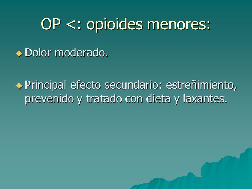 OP <: opioides menores:
