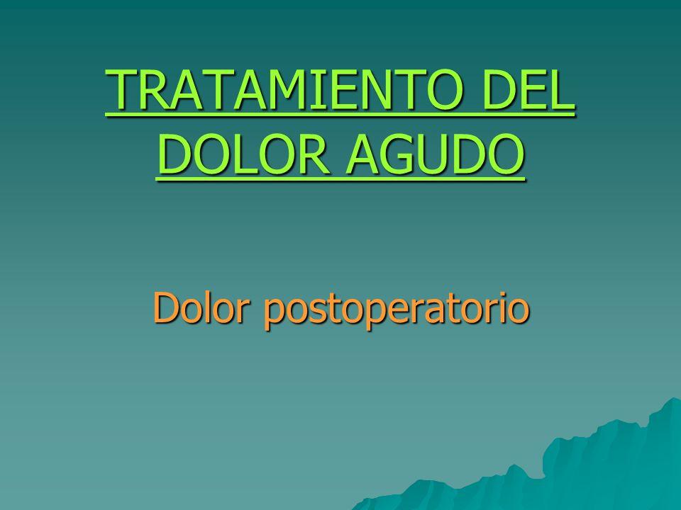 TRATAMIENTO DEL DOLOR AGUDO
