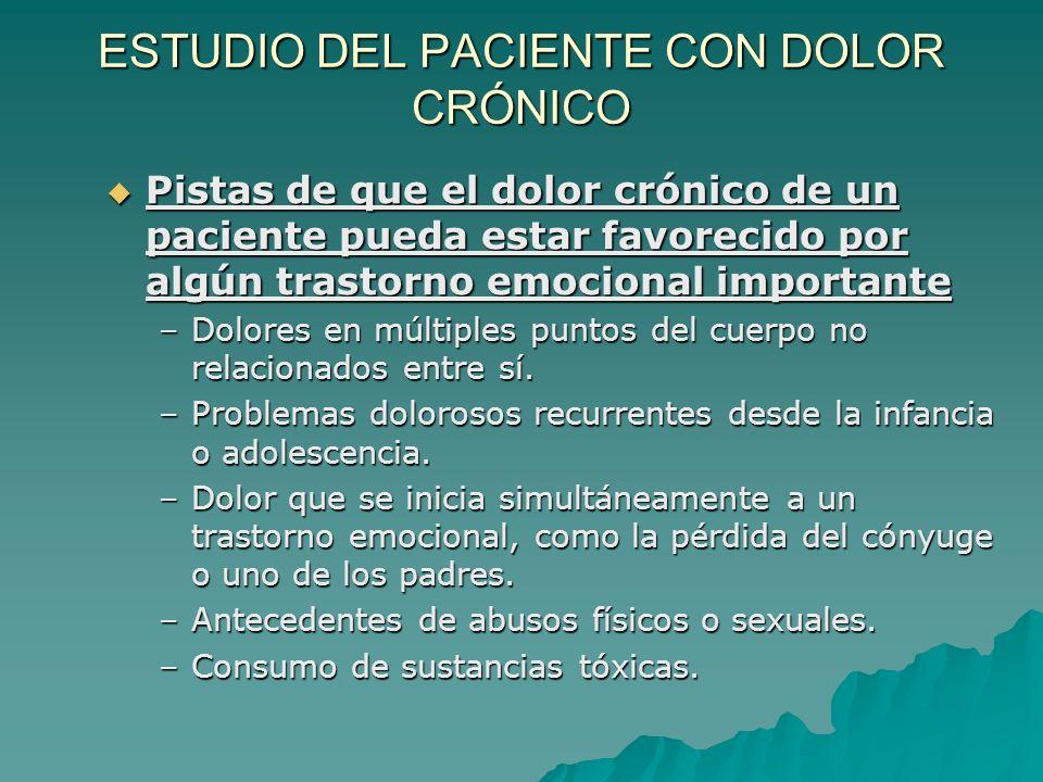 ESTUDIO DEL PACIENTE CON DOLOR CRÓNICO