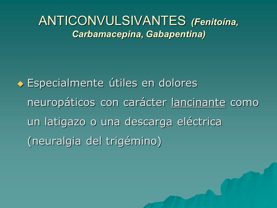 ANTICONVULSIVANTES (Fenitoína, Carbamacepina, Gabapentina)