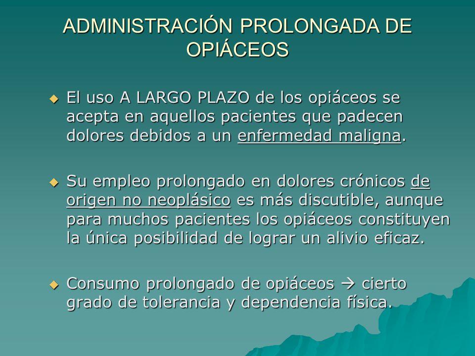 ADMINISTRACIÓN PROLONGADA DE OPIÁCEOS