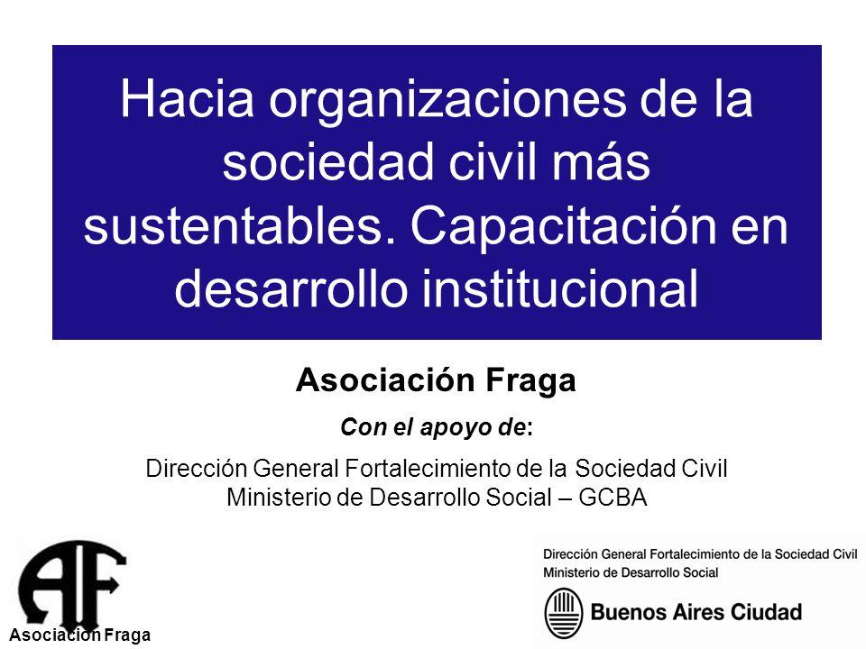 Hacia organizaciones de la sociedad civil más sustentables