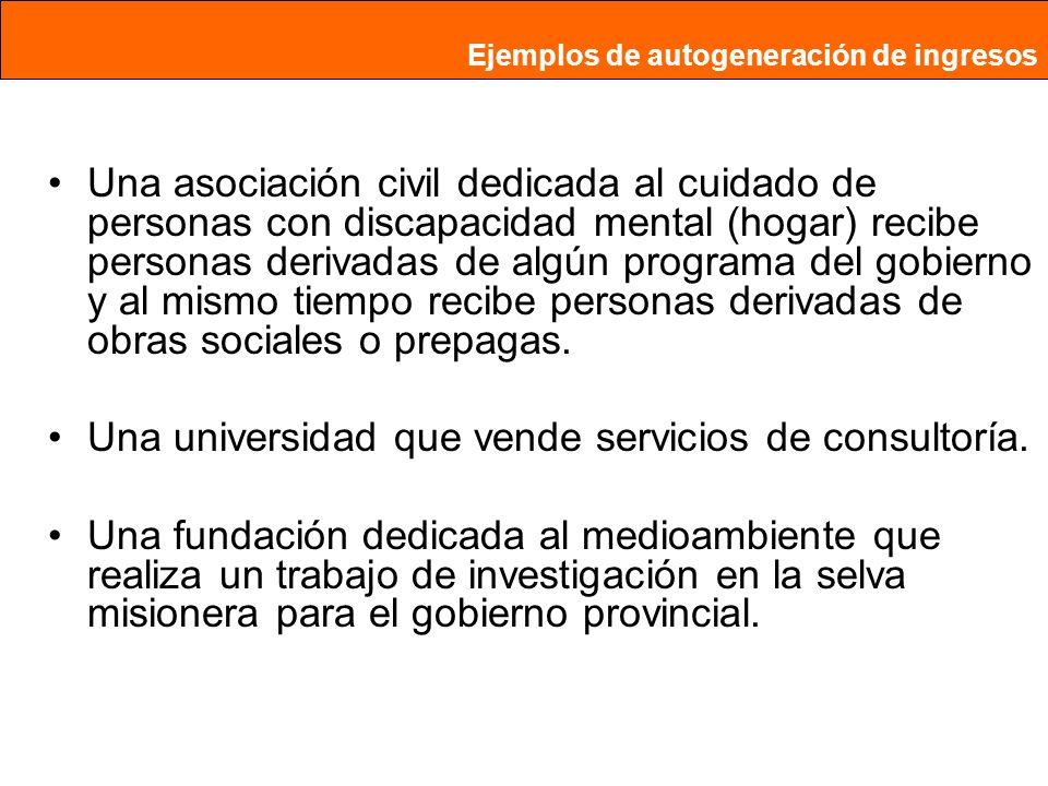 Una universidad que vende servicios de consultoría.