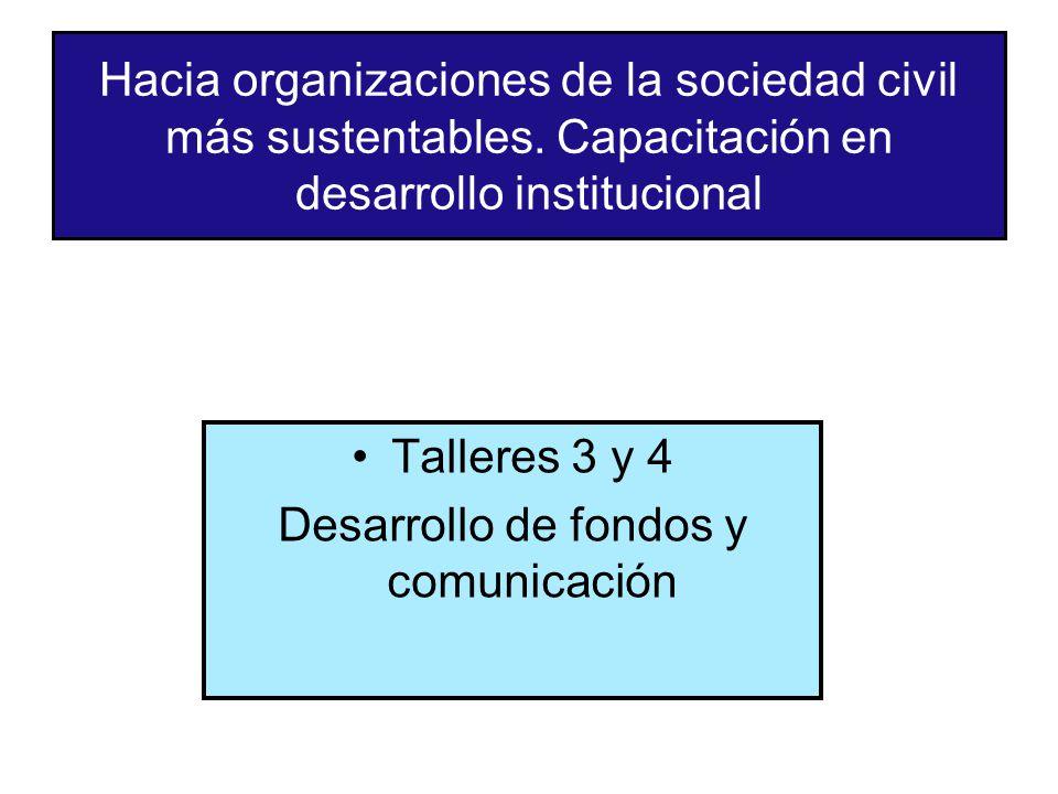 Desarrollo de fondos y comunicación