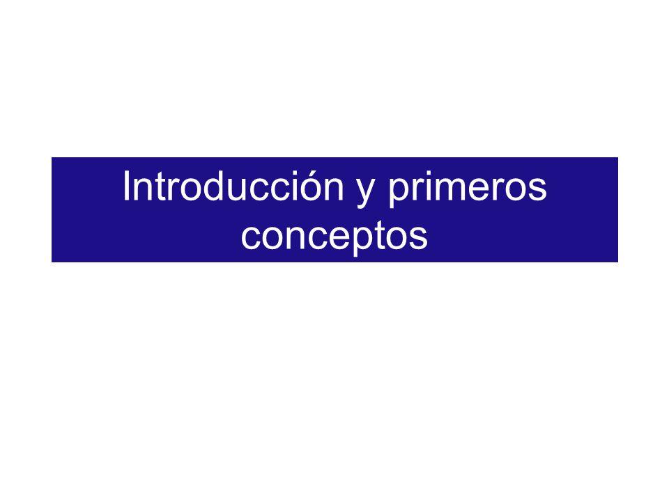 Introducción y primeros conceptos