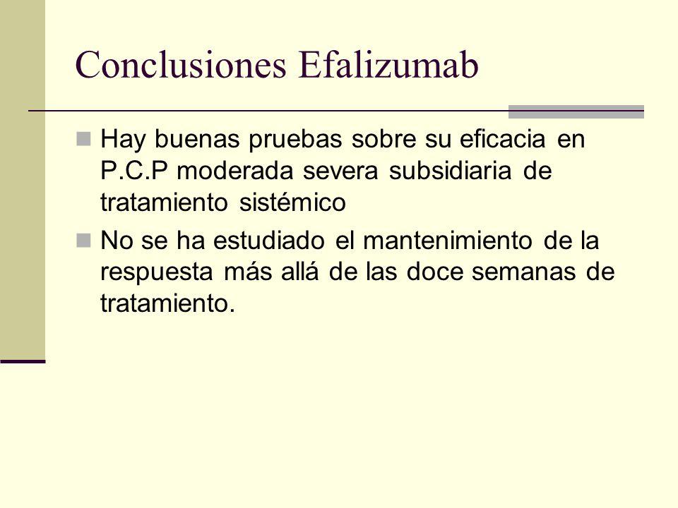 Conclusiones Efalizumab