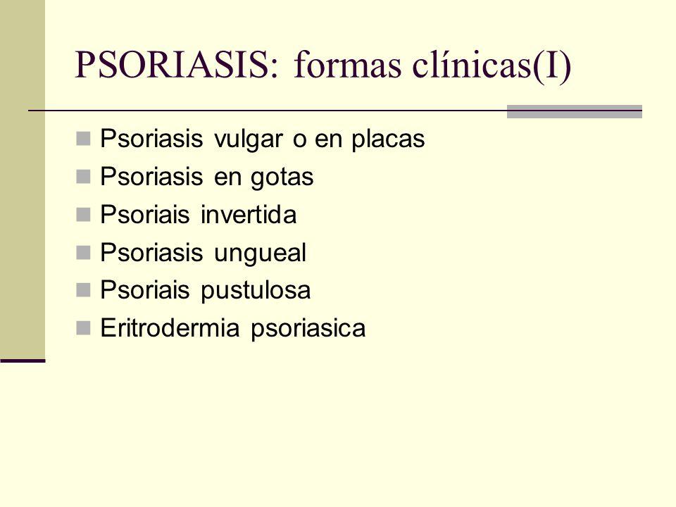 PSORIASIS: formas clínicas(I)