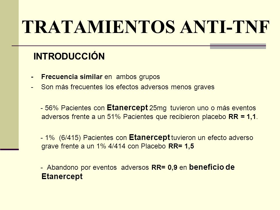 TRATAMIENTOS ANTI-TNF
