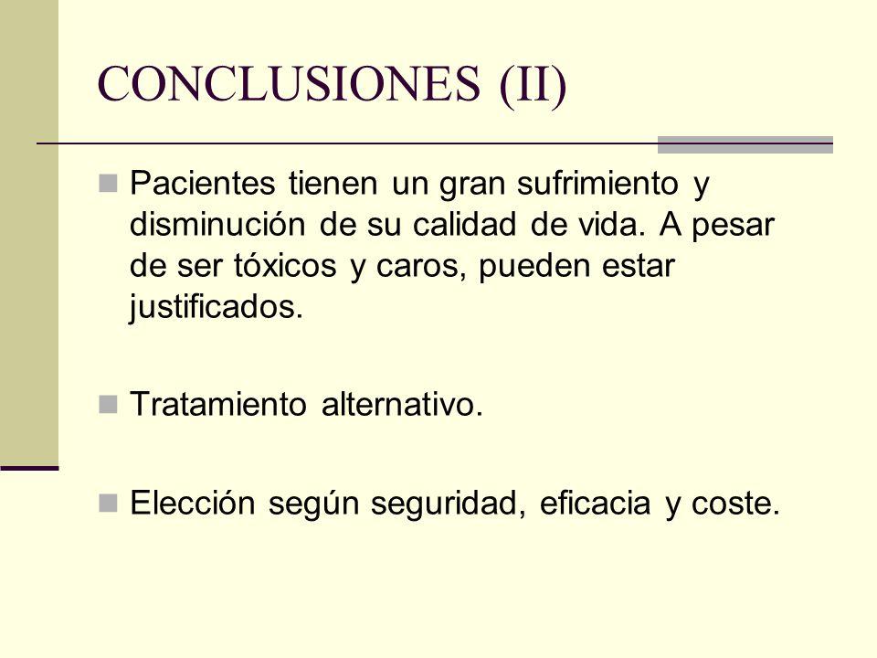 CONCLUSIONES (II)