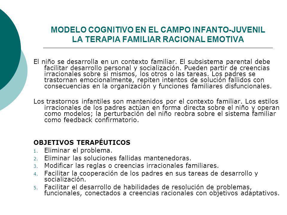 MODELO COGNITIVO EN EL CAMPO INFANTO-JUVENIL LA TERAPIA FAMILIAR RACIONAL EMOTIVA