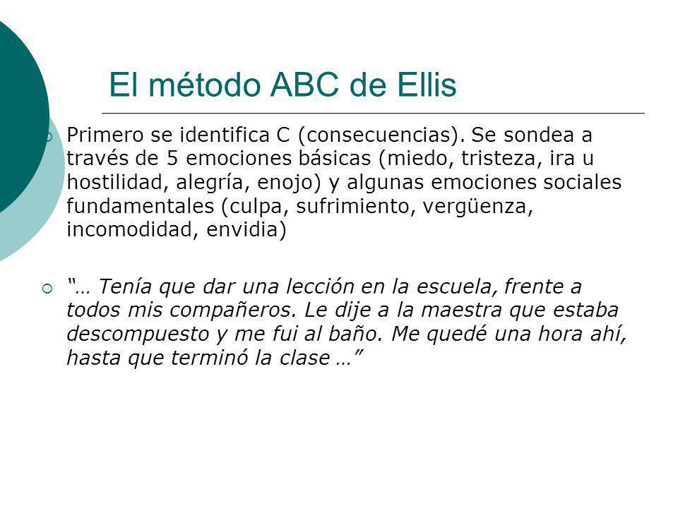 El método ABC de Ellis