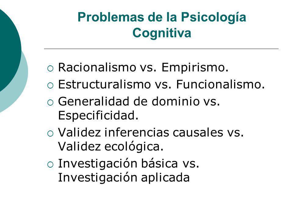 Problemas de la Psicología Cognitiva