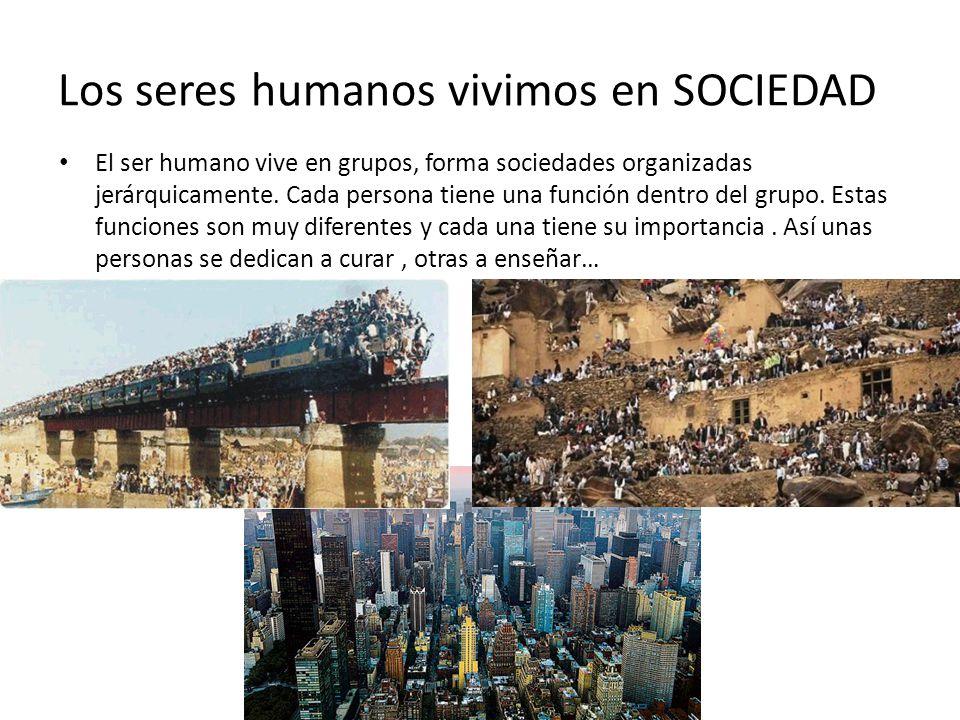 Los seres humanos vivimos en SOCIEDAD