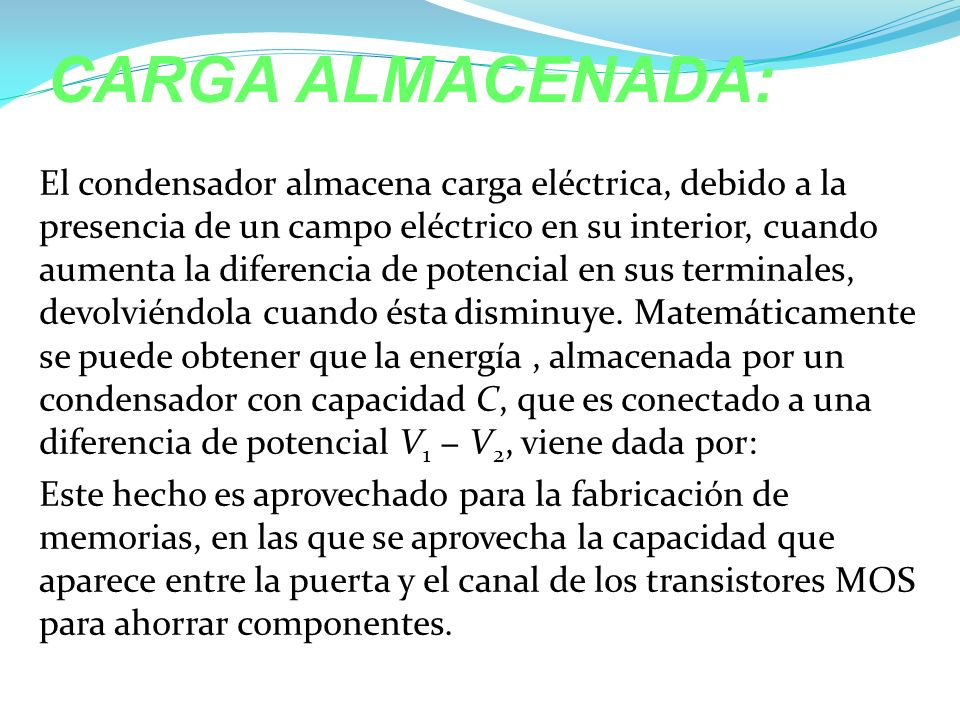 CARGA ALMACENADA: