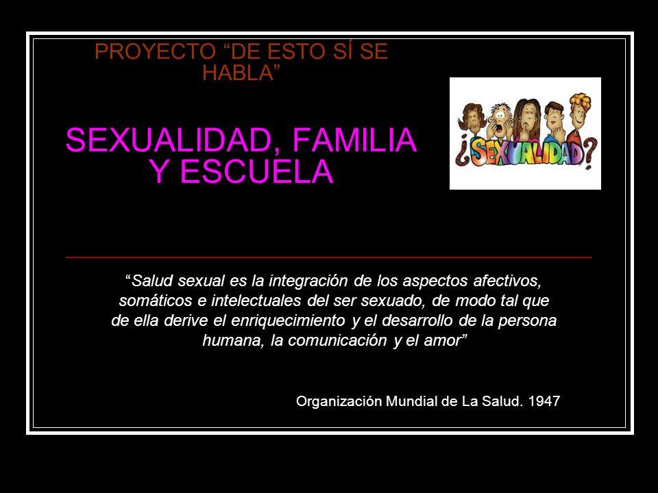 PROYECTO DE ESTO SÍ SE HABLA SEXUALIDAD, FAMILIA Y ESCUELA