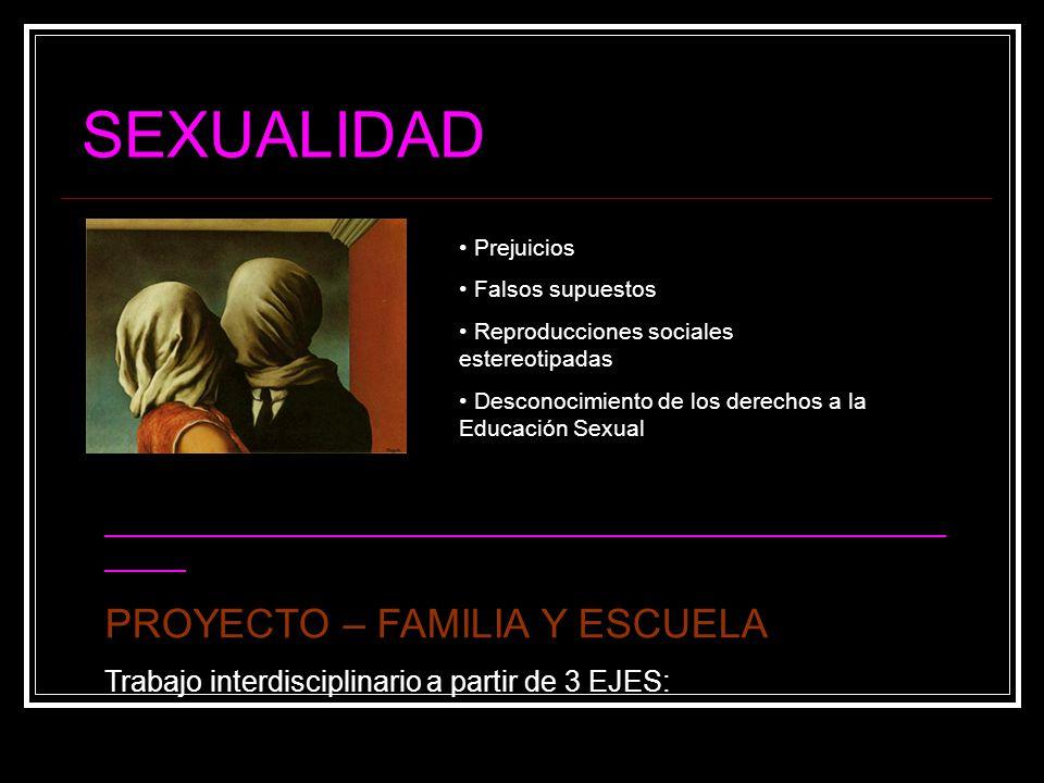 SEXUALIDAD PROYECTO – FAMILIA Y ESCUELA