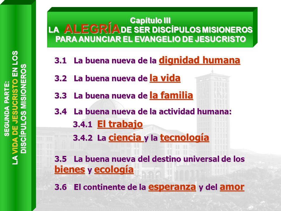 LA VIDA DE JESUCRISTO EN LOS DISCÍPULOS MISIONEROS