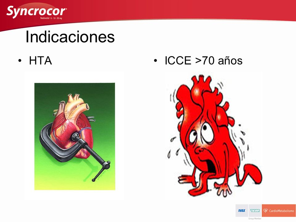 Indicaciones HTA ICCE >70 años