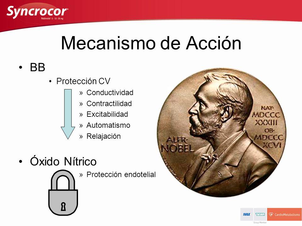 Mecanismo de Acción BB Óxido Nítrico Protección CV Conductividad