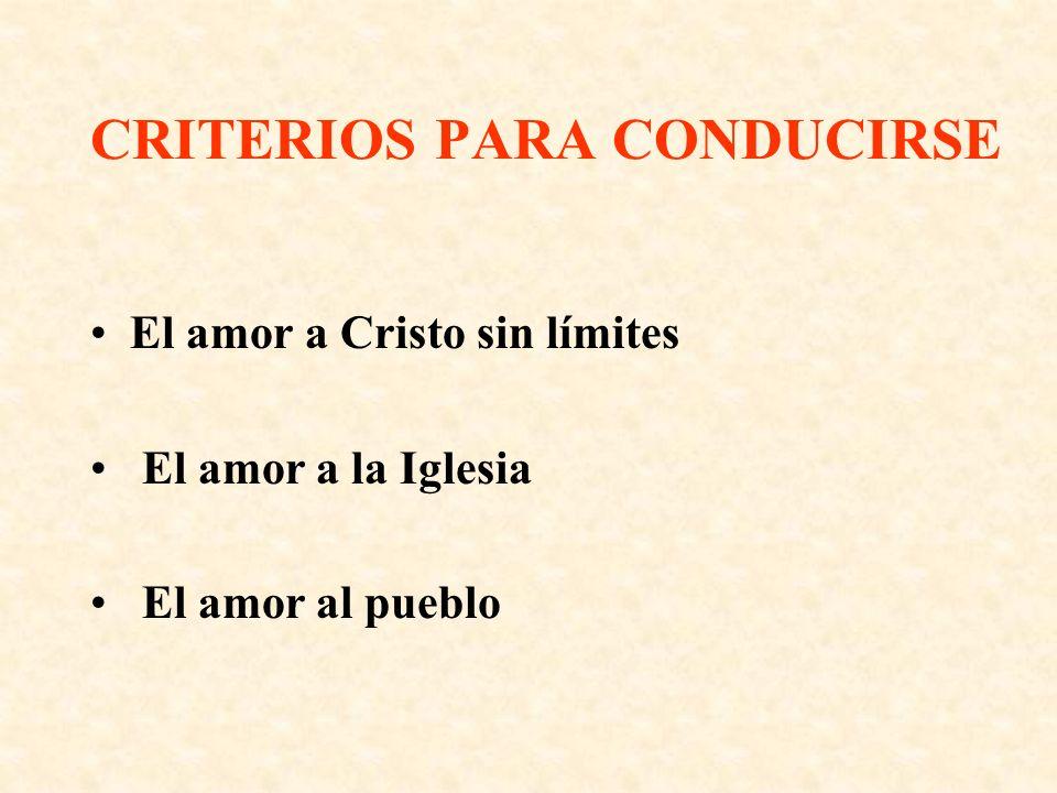 CRITERIOS PARA CONDUCIRSE