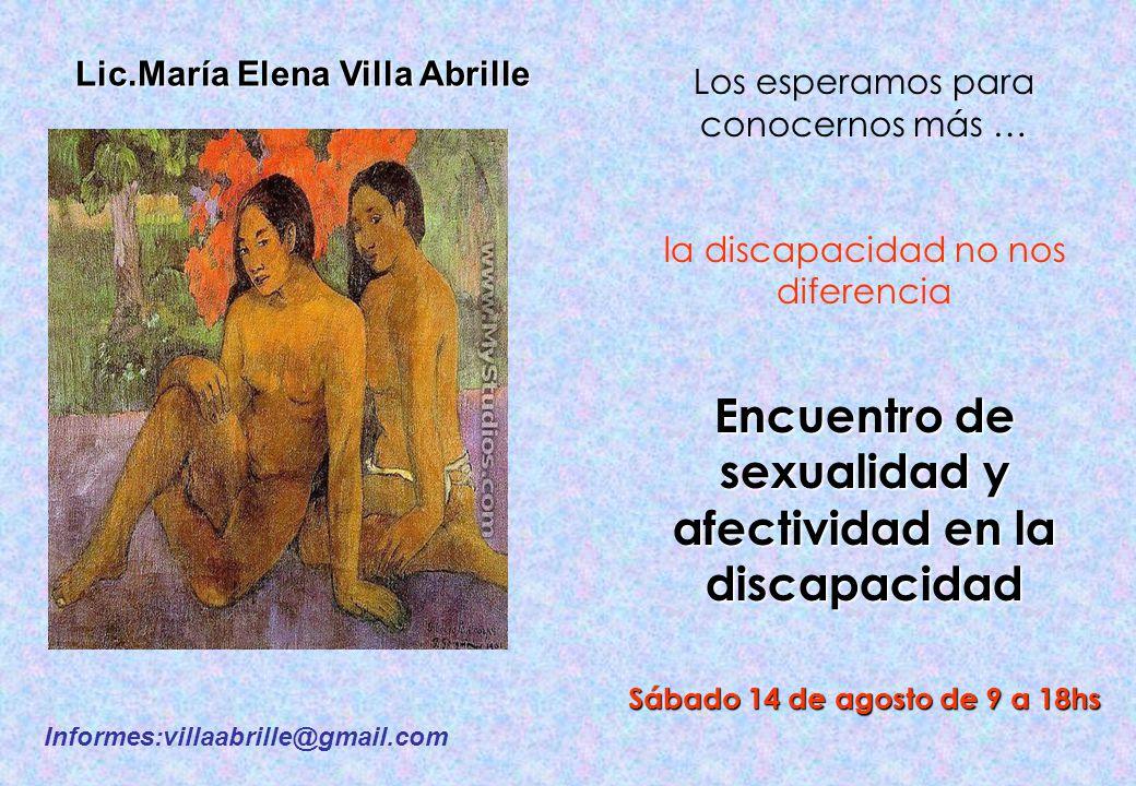 Encuentro de sexualidad y afectividad en la discapacidad