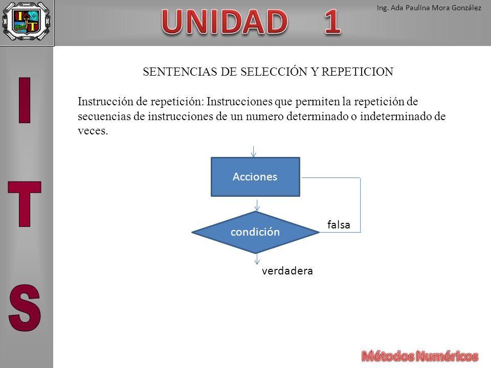 SENTENCIAS DE SELECCIÓN Y REPETICION