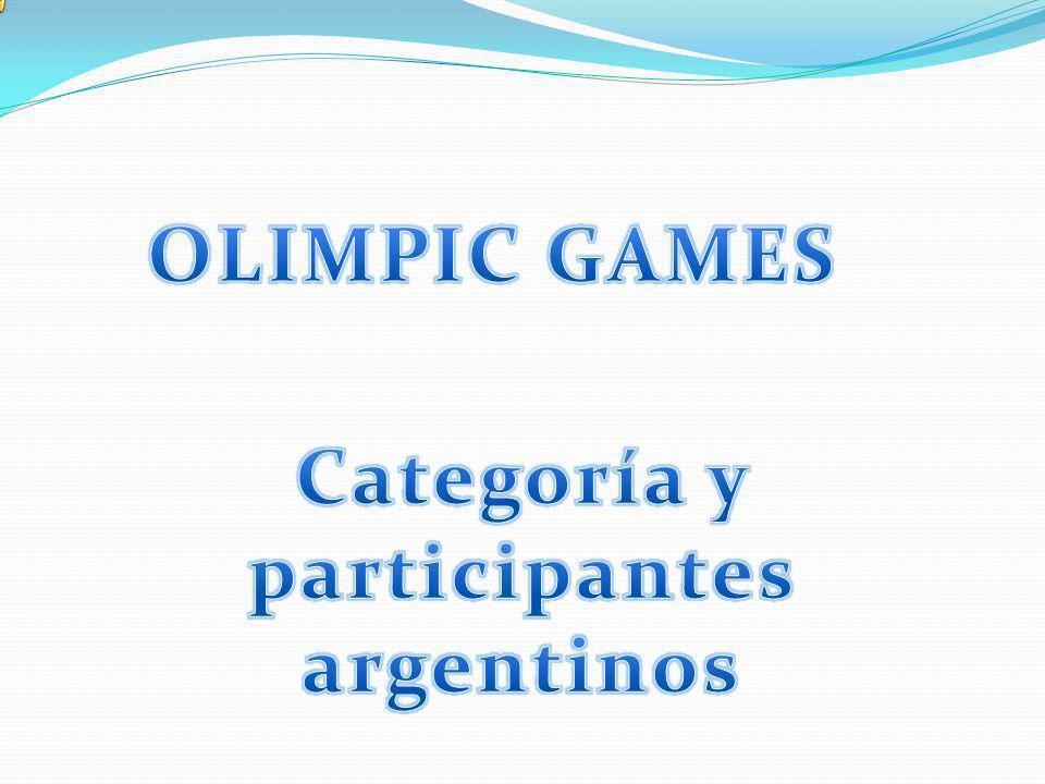 Categoría y participantes argentinos