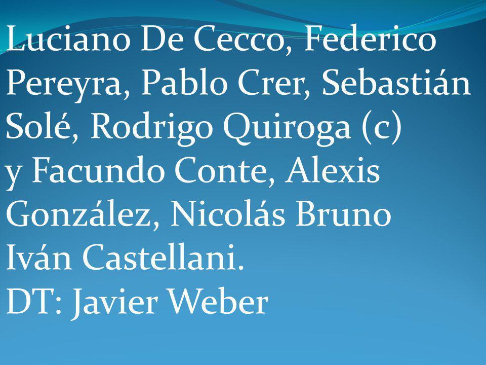 Luciano De Cecco, Federico Pereyra, Pablo Crer, Sebastián Solé, Rodrigo Quiroga (c) y Facundo Conte, Alexis González, Nicolás Bruno Iván Castellani.
